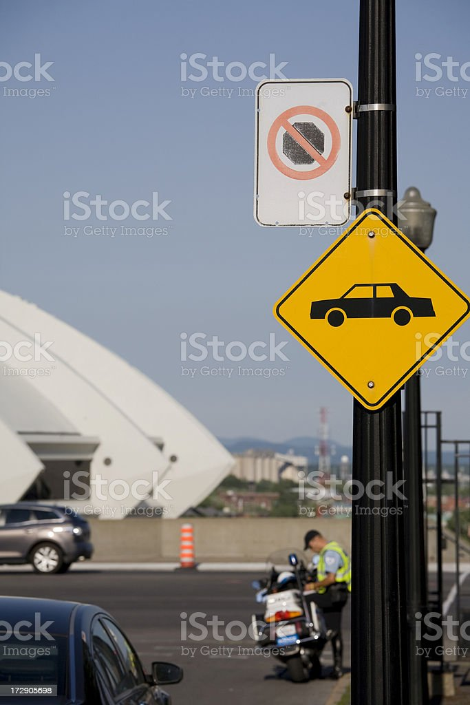 getting a ticket royalty-free stock photo