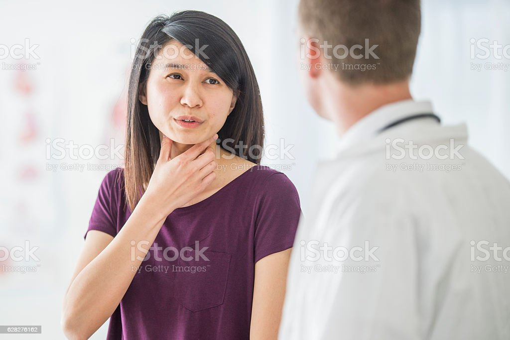Getting Advice on a Cold stock photo