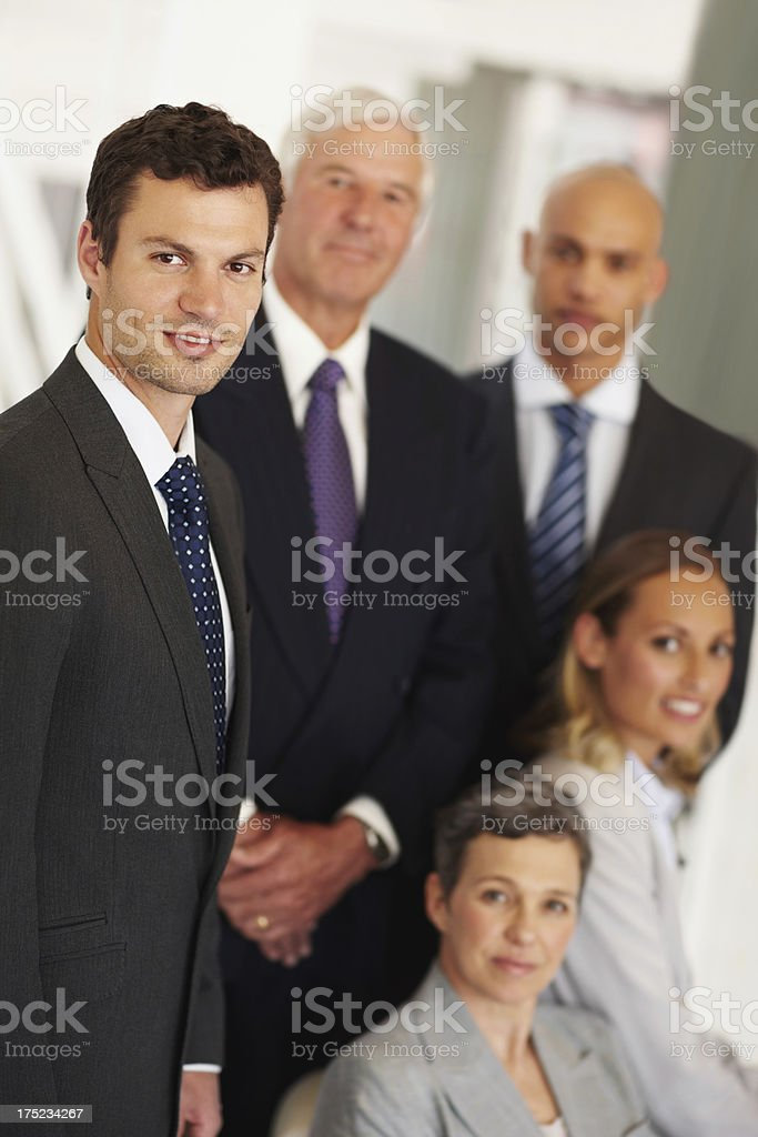 Getting along helps our business boom royalty-free stock photo