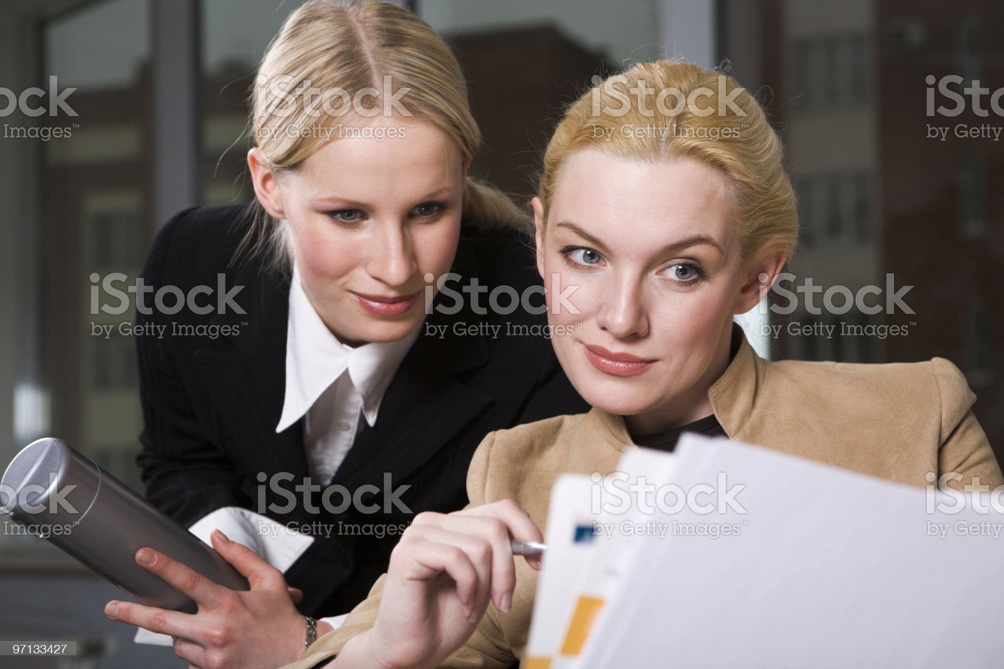 Getting an opinion royalty-free stock photo