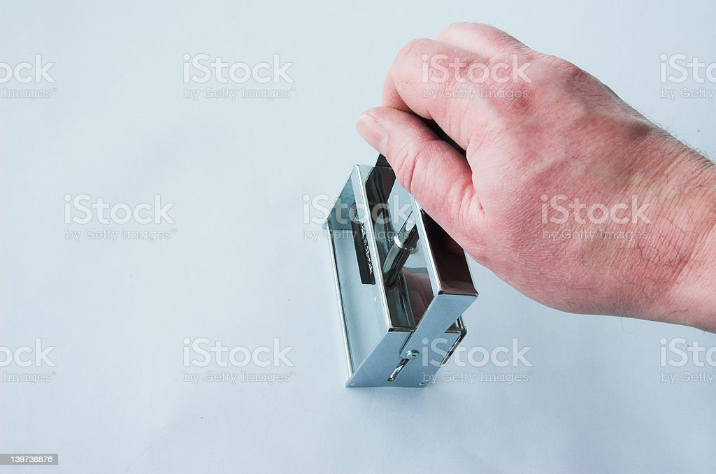 Getting approval royalty-free stock photo