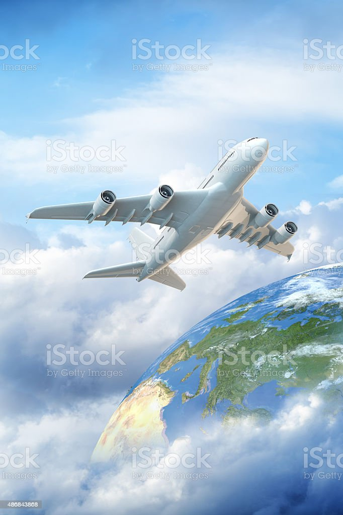 Getting away from it all concept image stock photo