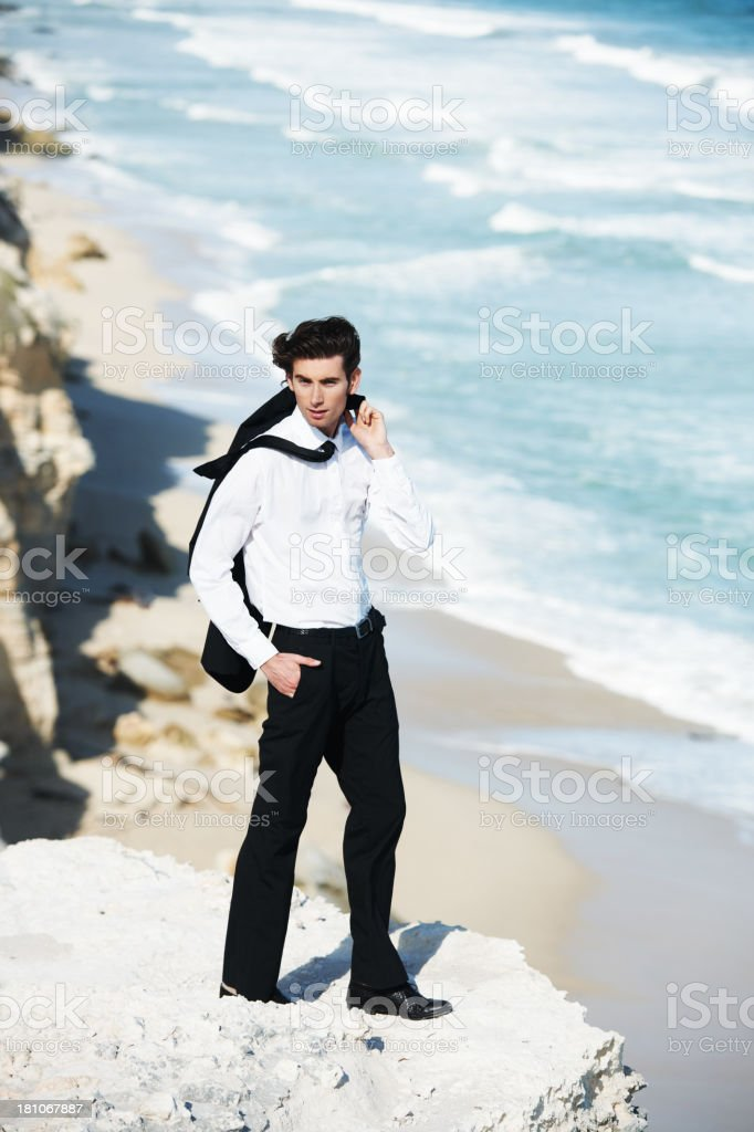 Getting away from the office royalty-free stock photo