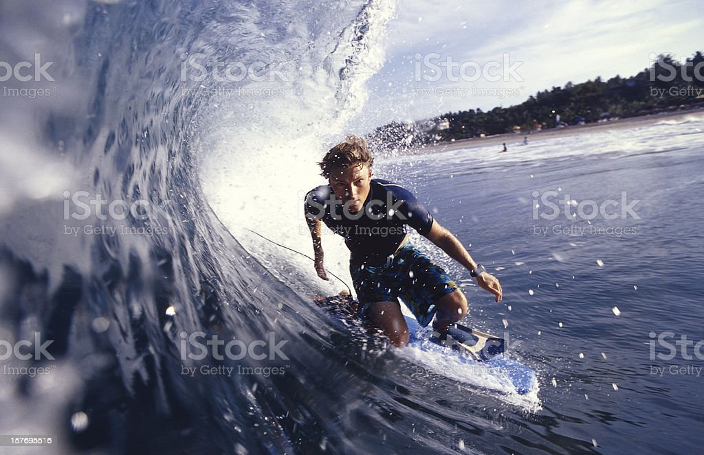 getting barrelled stock photo
