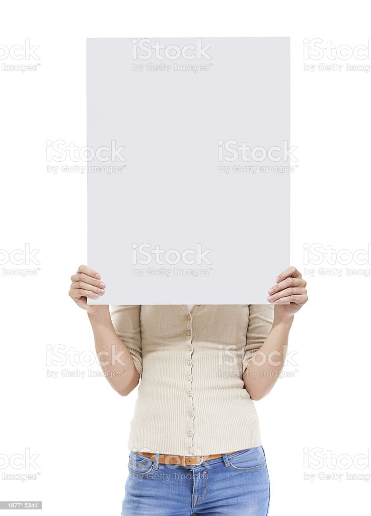 Getting behind your idea stock photo