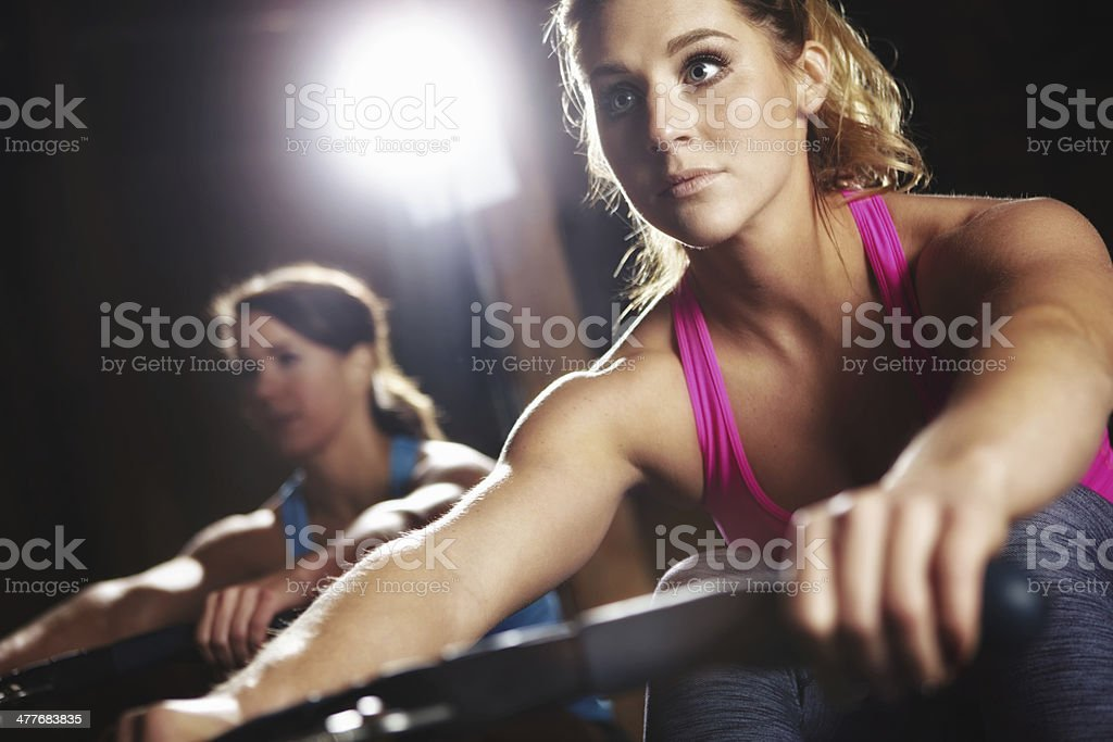 Getting closer to her fitness goals royalty-free stock photo