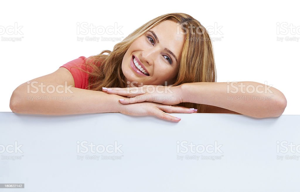 Getting comfy on your copyspace royalty-free stock photo
