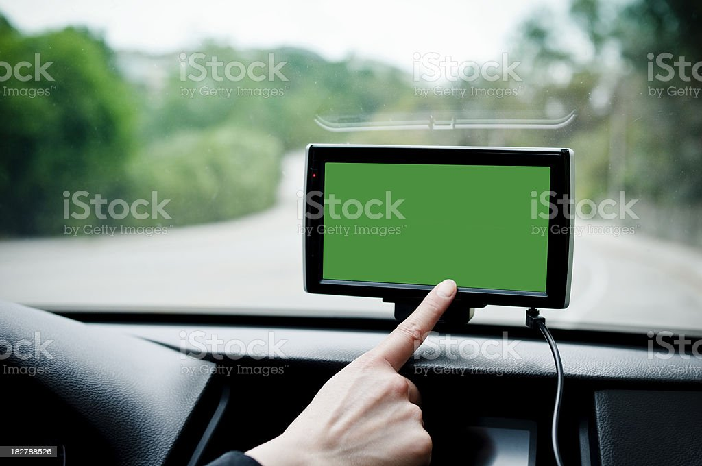Getting direction on GPS royalty-free stock photo