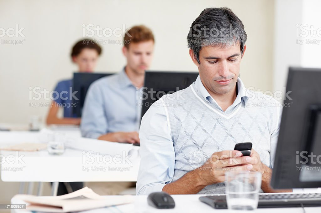 Getting distracted at work? stock photo