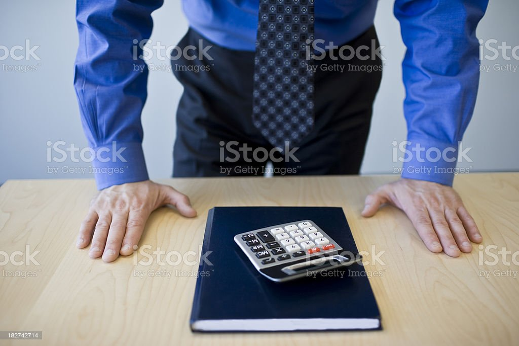 Getting down to business royalty-free stock photo