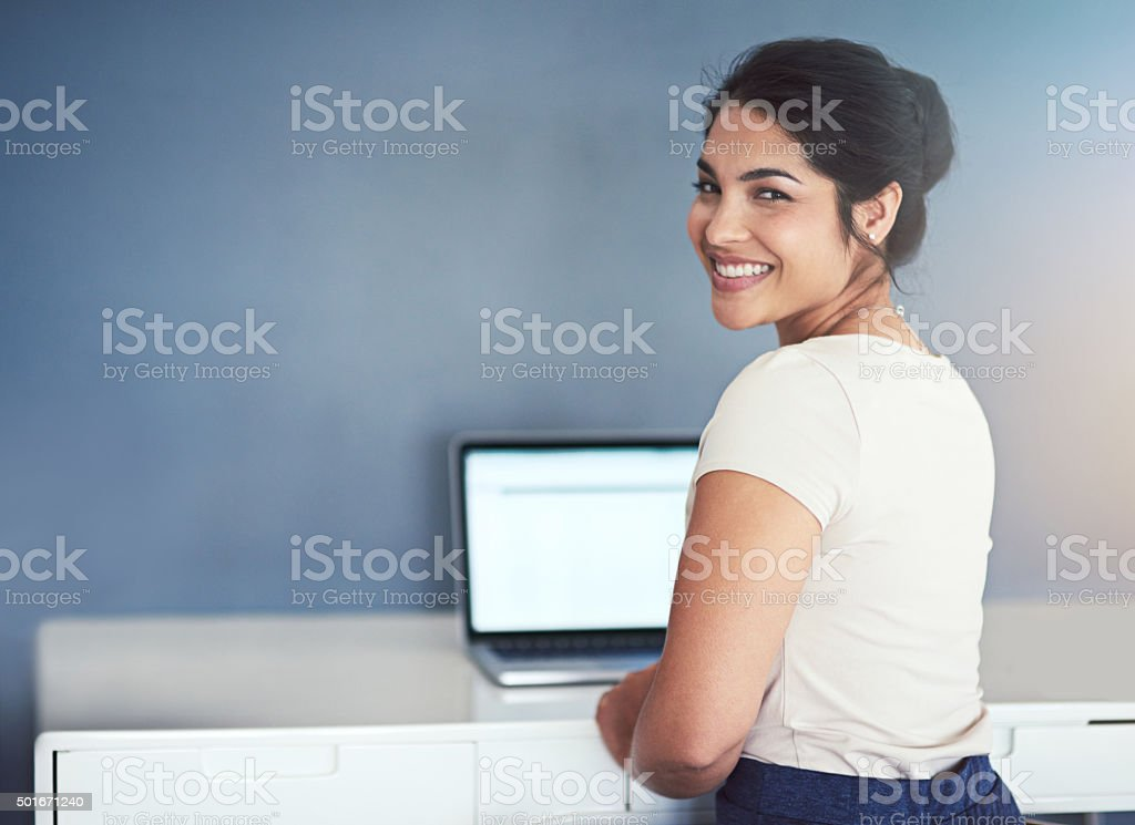 Getting down to business stock photo