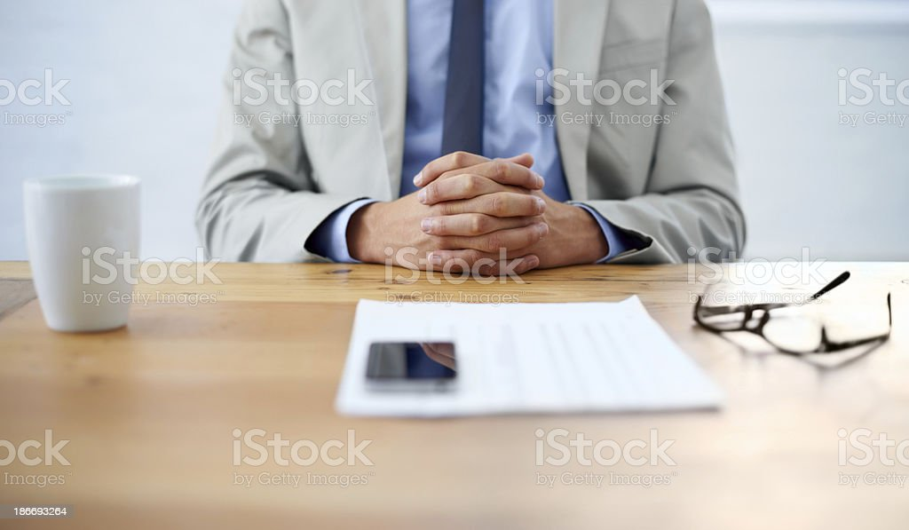 Getting down to paperwork stock photo