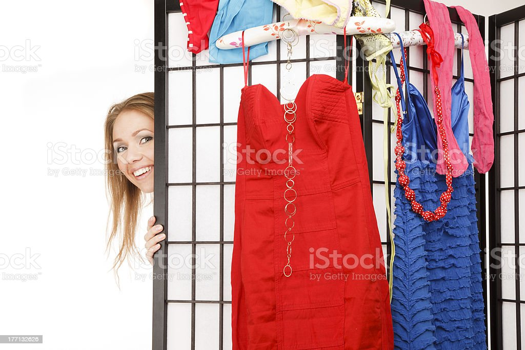 Getting dressed royalty-free stock photo