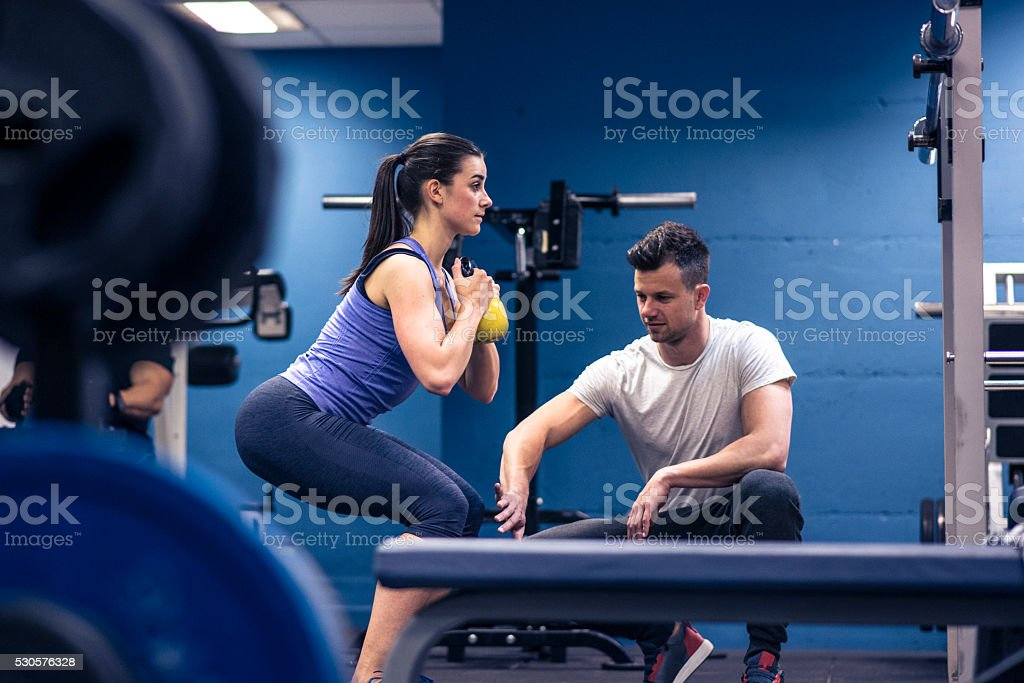 Getting fit for the summer stock photo