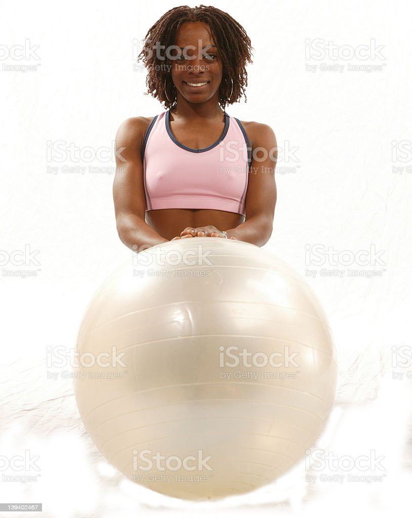getting fit is a ball royalty-free stock photo