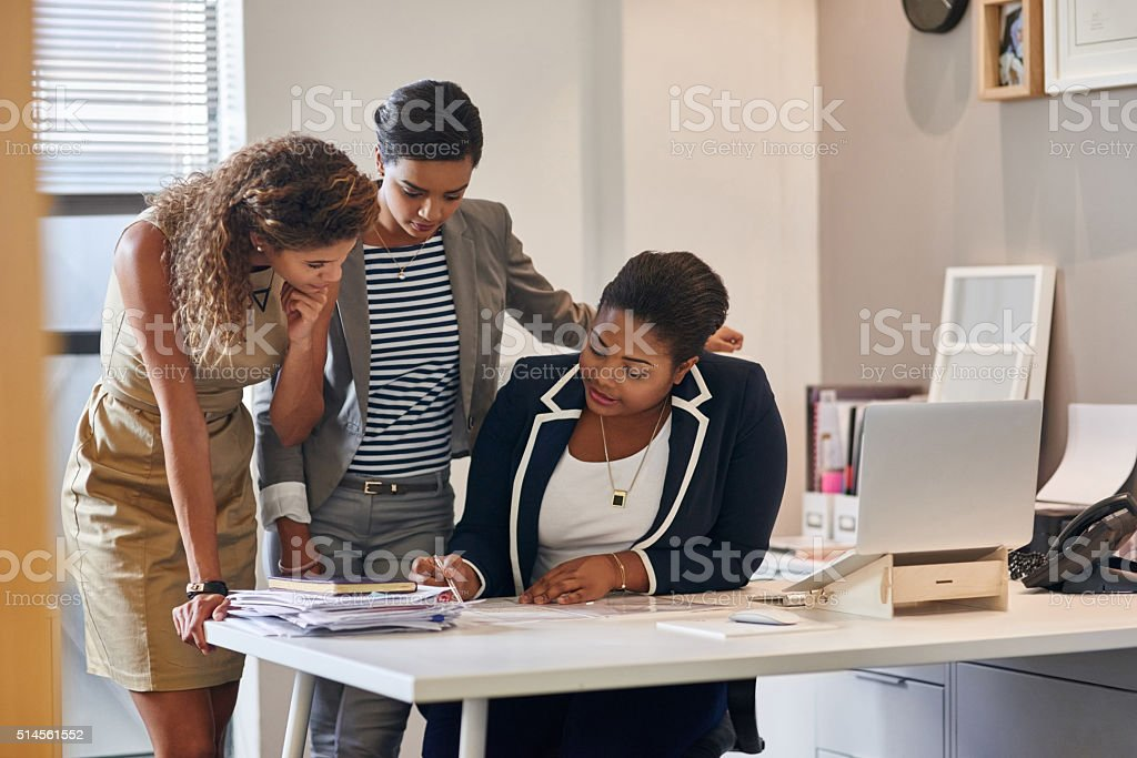 Getting fresh eyes on the project stock photo