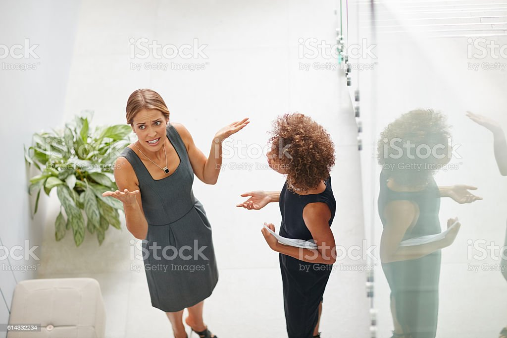 Getting frustrated in the workplace stock photo