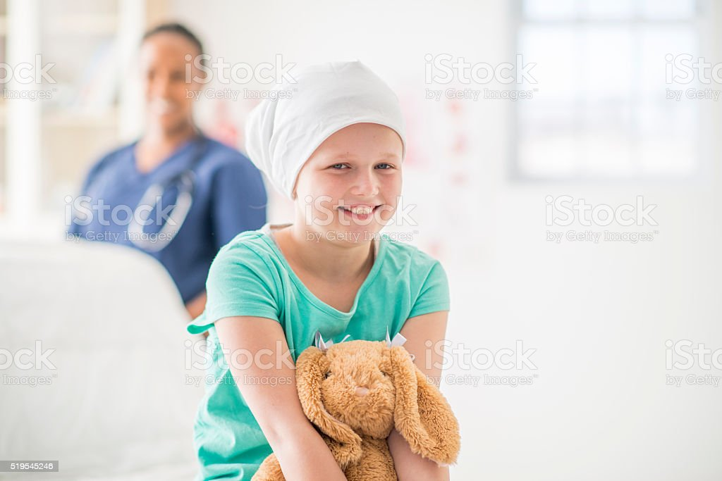 Getting Good News at the Hospital stock photo