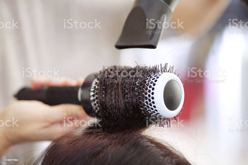 Getting hairstyle royalty-free stock photo