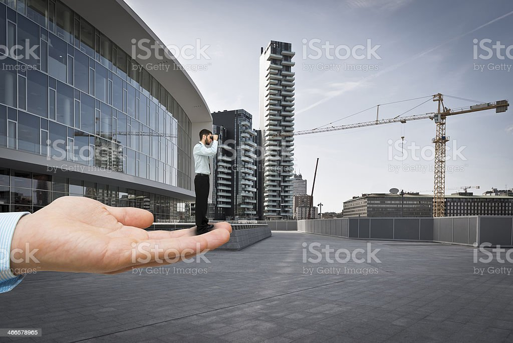 Getting help in looking for new opportunities royalty-free stock photo