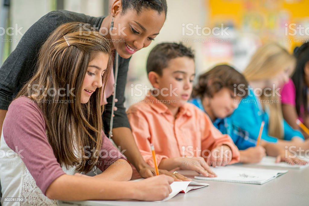 Getting Help on a Homework Question stock photo