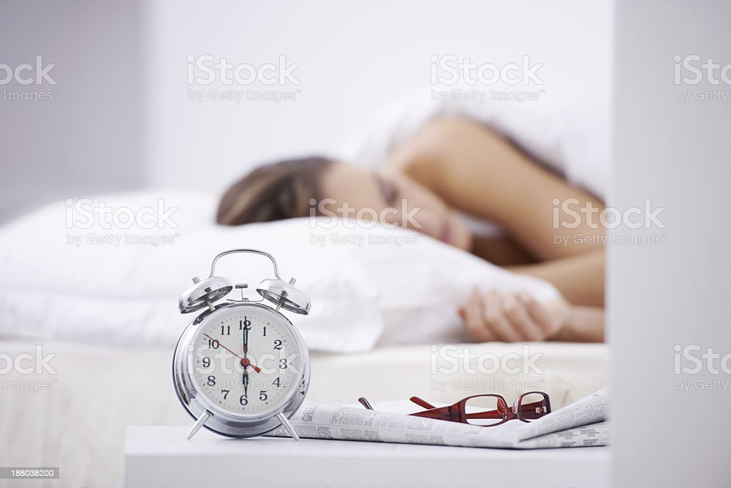 Getting her 8 hours stock photo