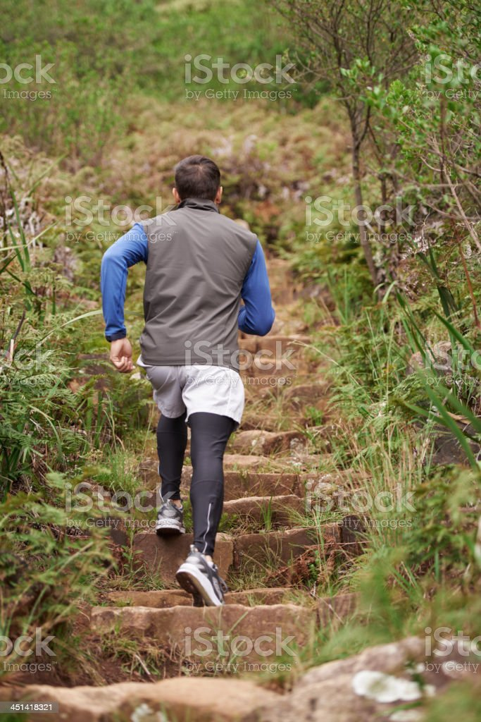 Getting his heart-rate pumping! stock photo