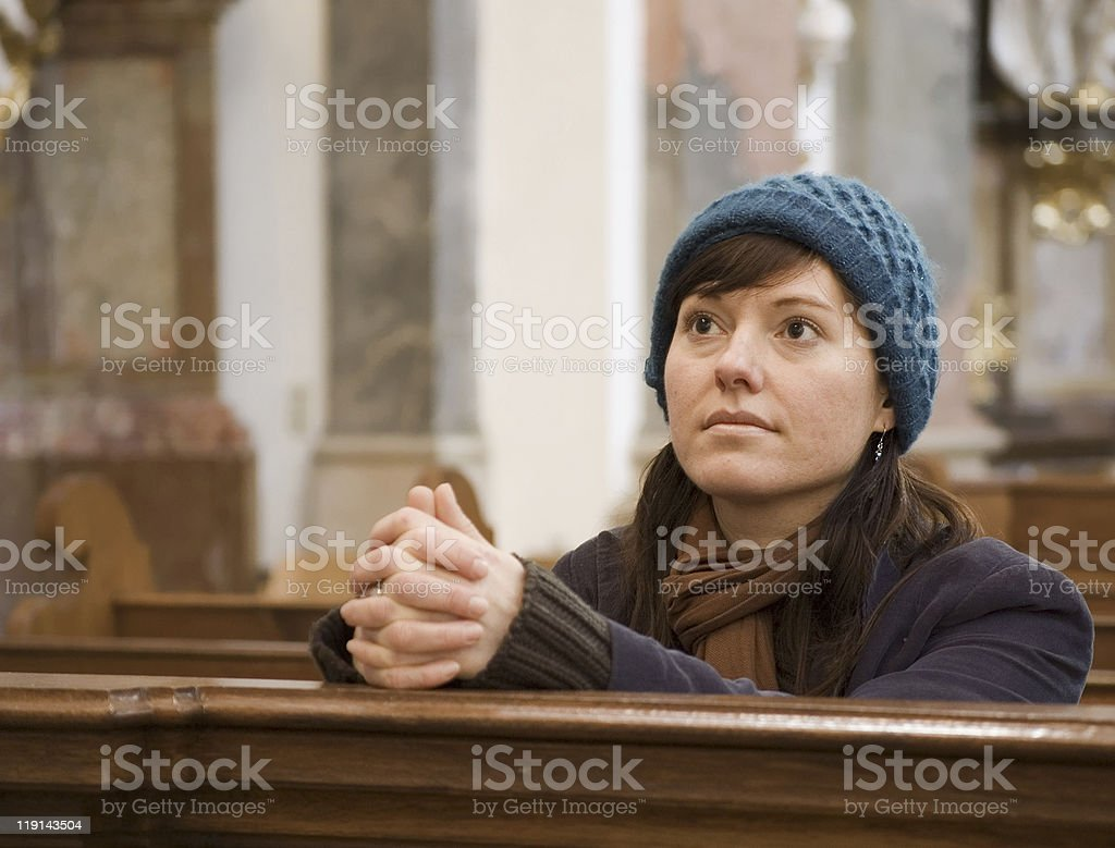 Getting Hope in the Church stock photo