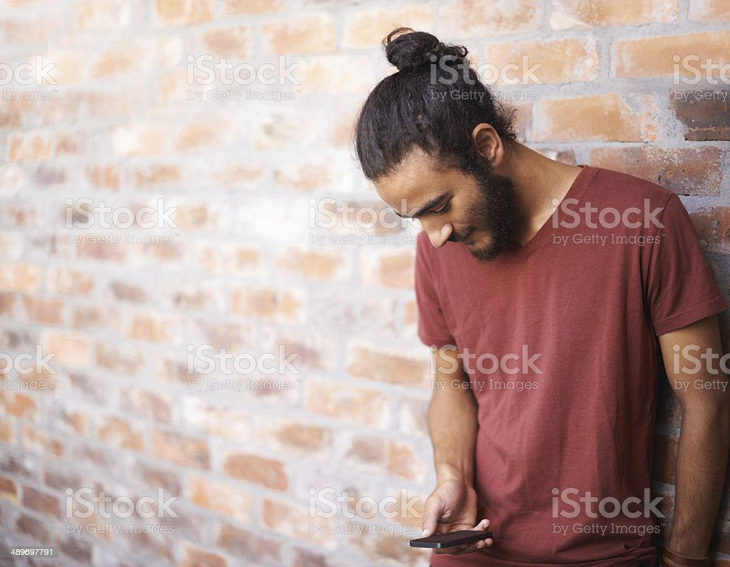 Getting in contact with someone special stock photo
