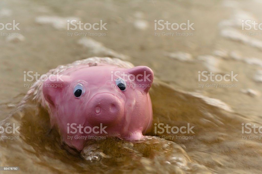 Getting in over your head - Series stock photo
