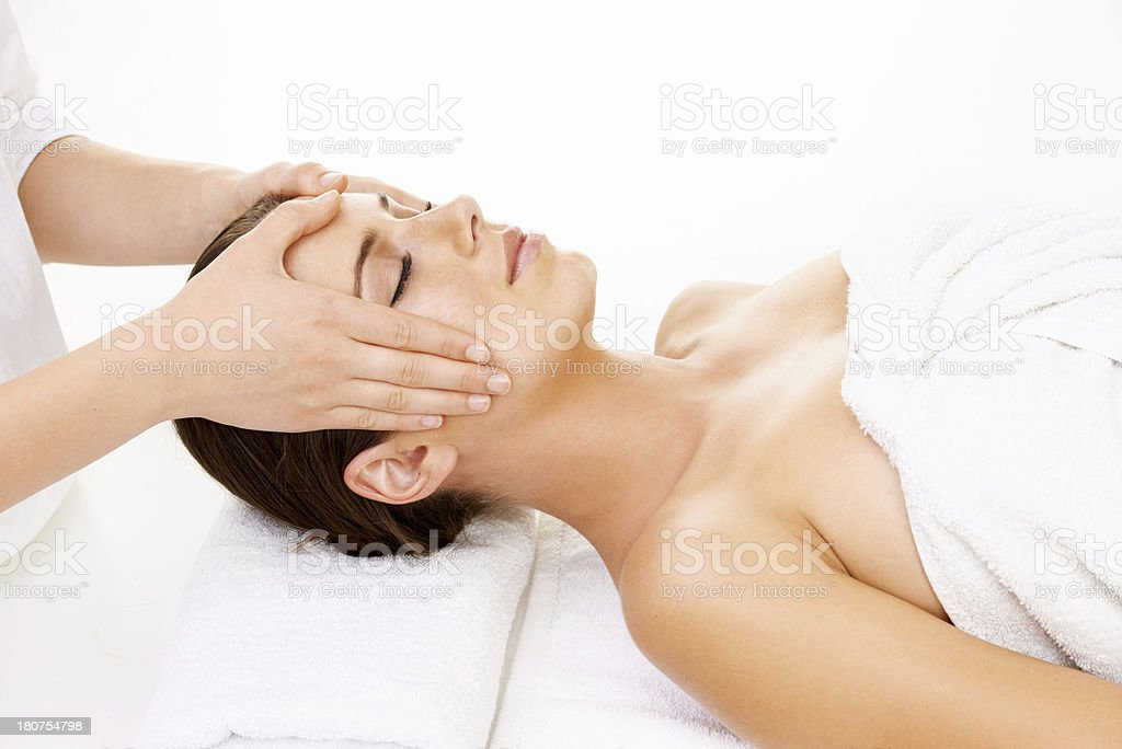Getting in the right head space royalty-free stock photo