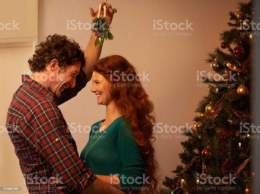 Getting into the Christmas mood stock photo