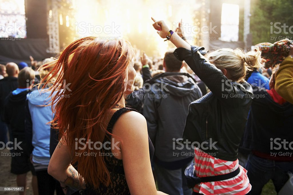 Getting into the show! stock photo