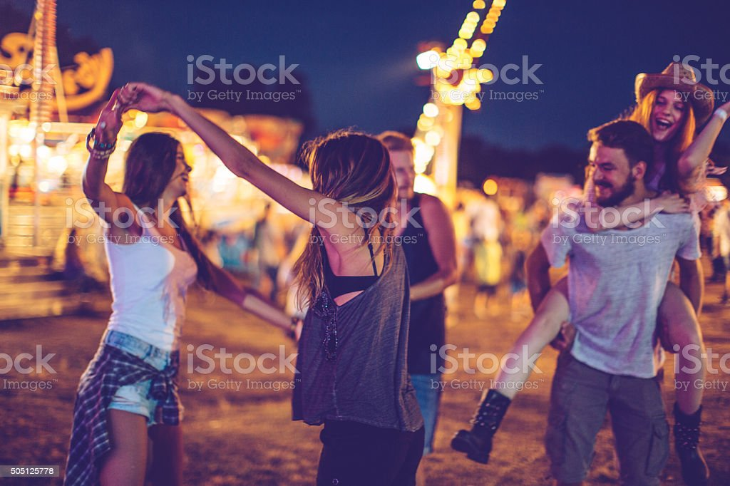 Getting into the spirit of the festival stock photo