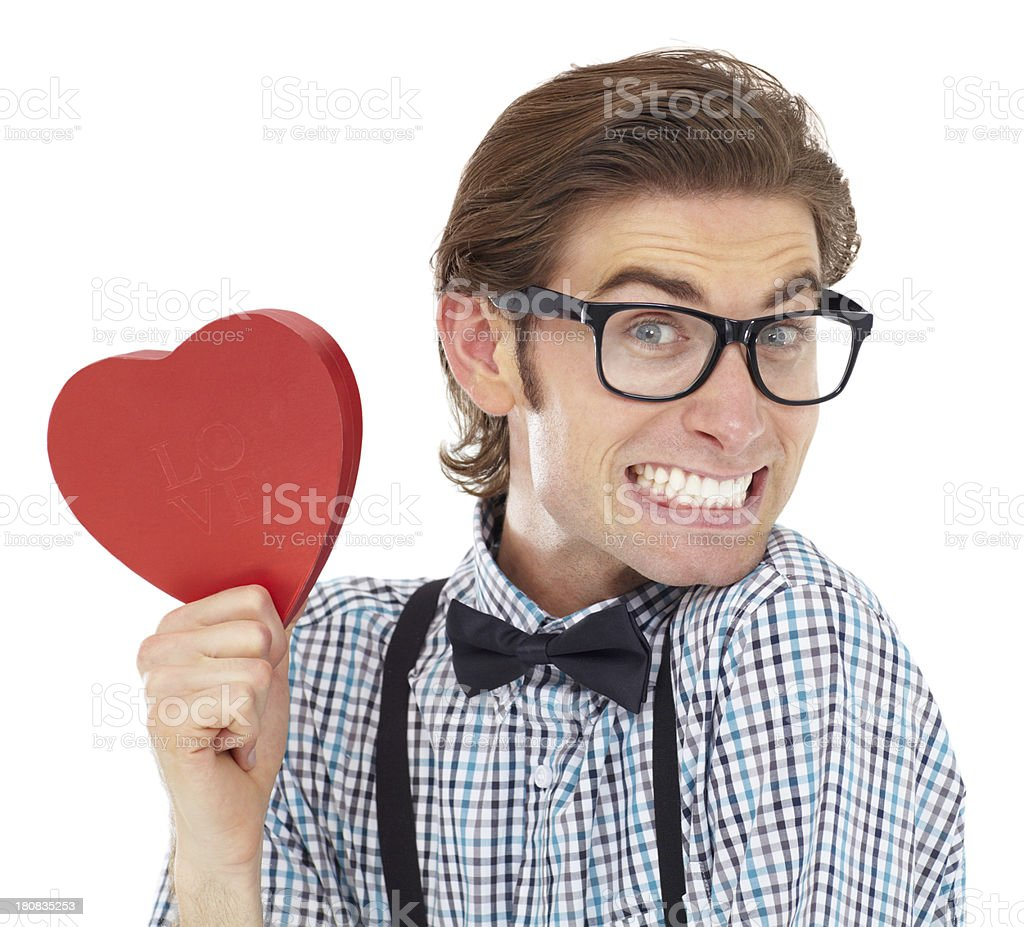Getting into the Valentine's Day spirit stock photo
