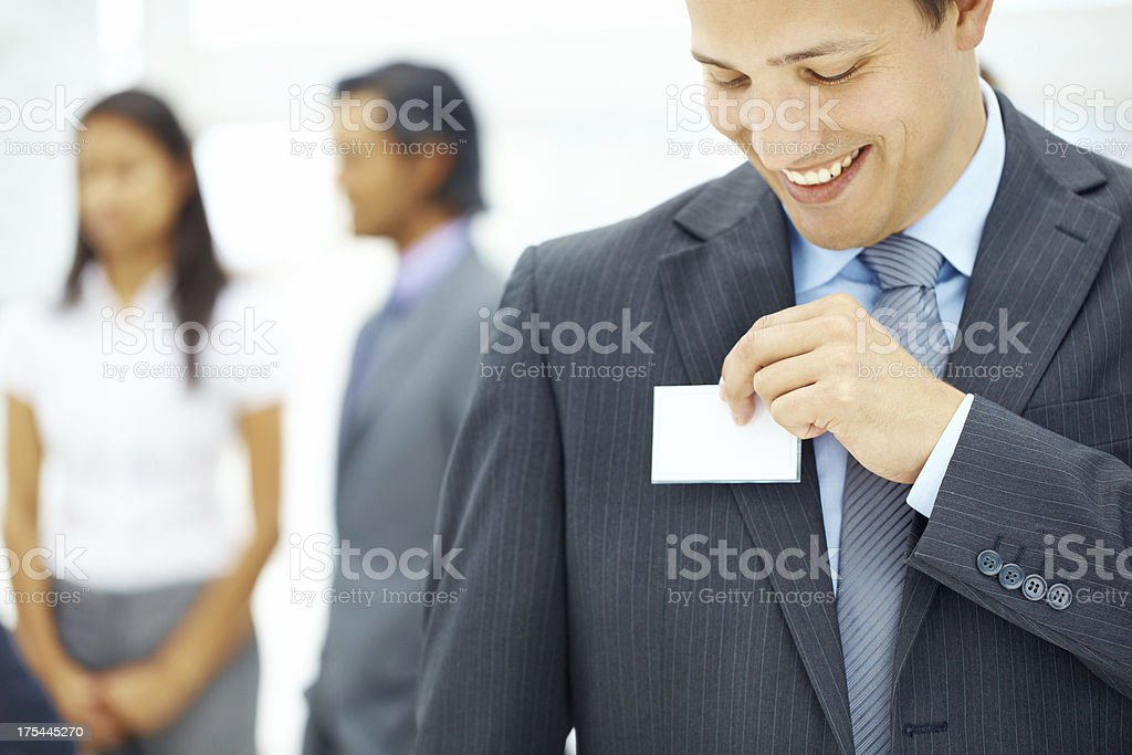 Getting introductions out of the way quickly! stock photo