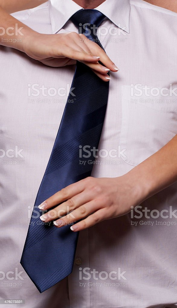 Getting it straight royalty-free stock photo