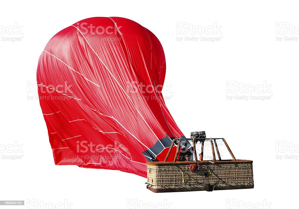 getting let down, hot air balloon stock photo