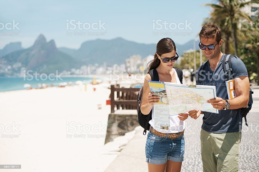 Getting lost in paradise isn't so bad stock photo