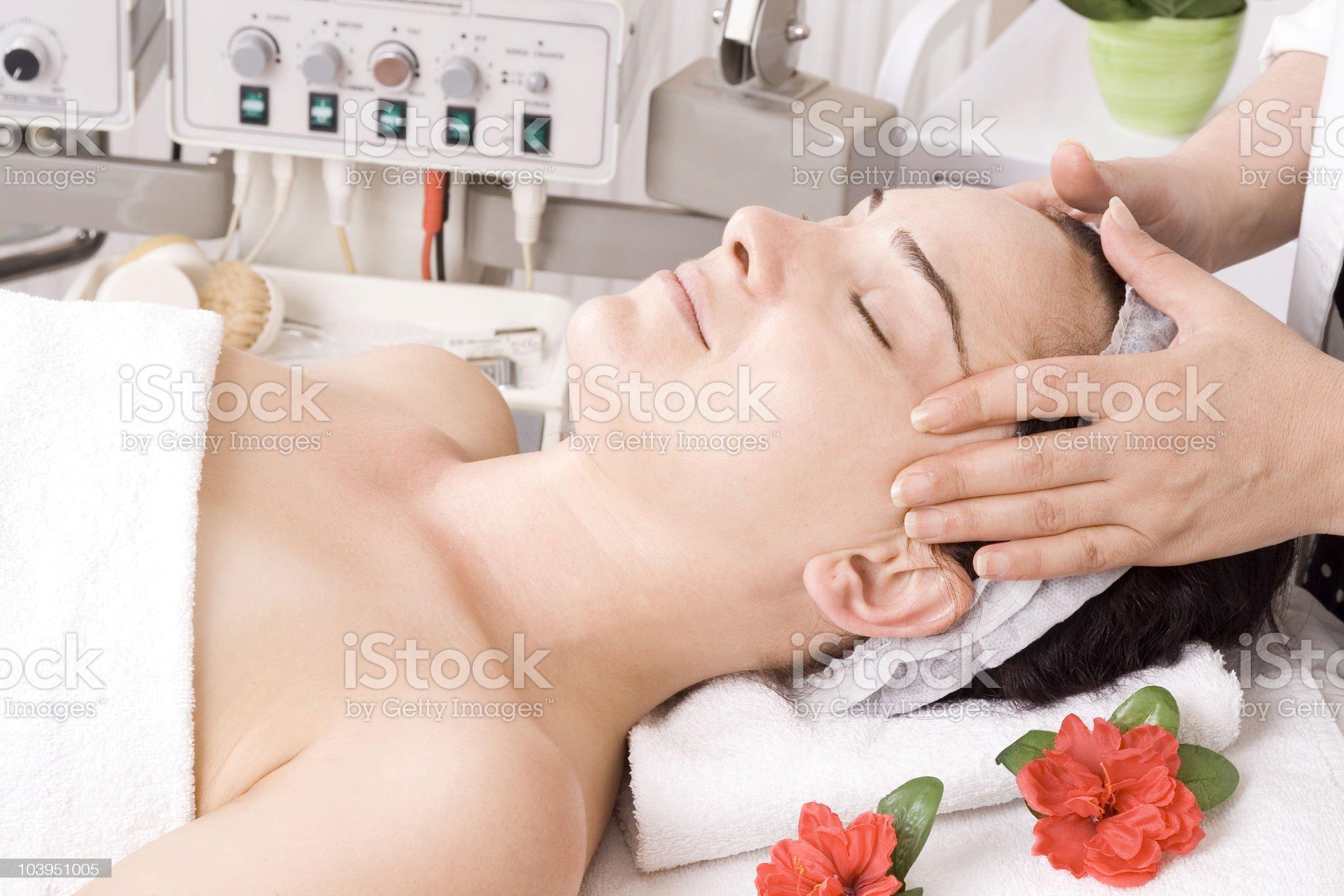 Getting Massage royalty-free stock photo