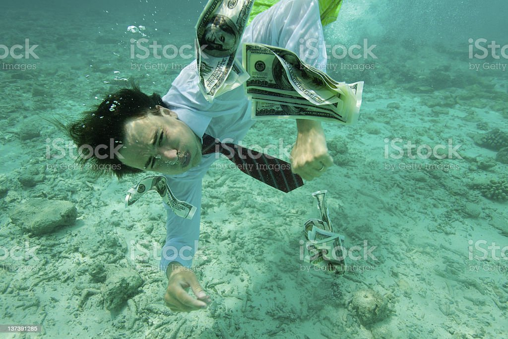 Getting money is not easy stock photo