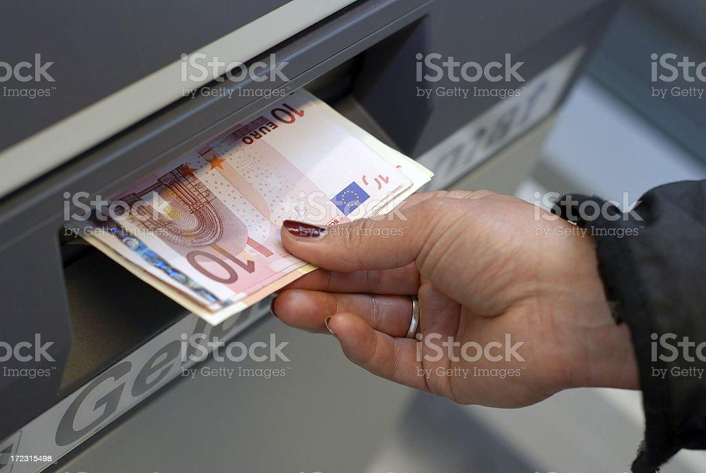 getting money stock photo