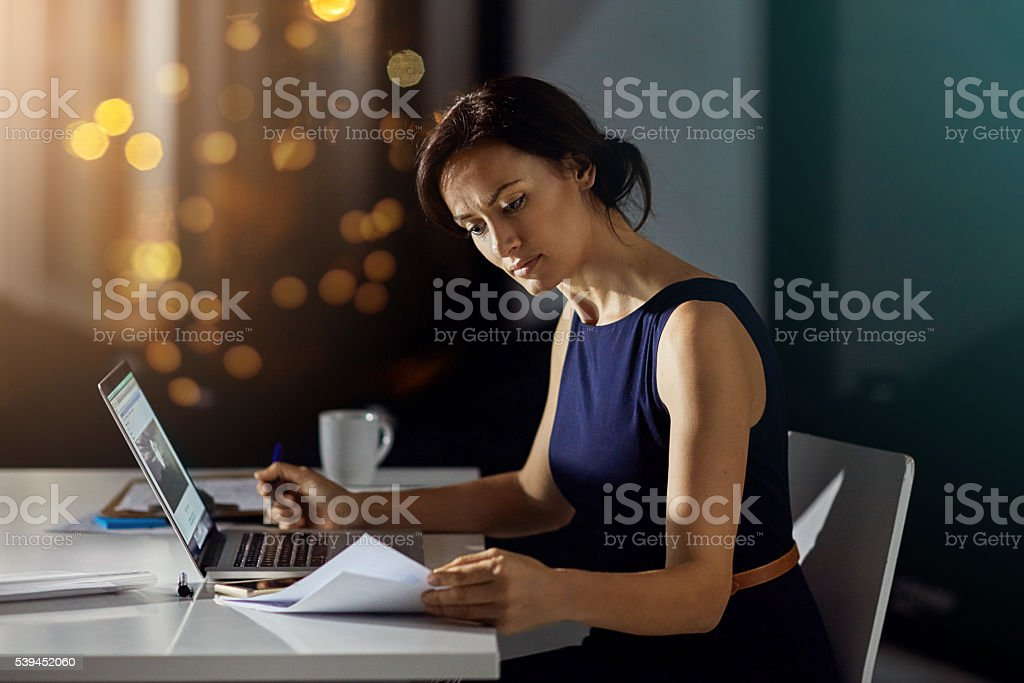 Getting more work done when the office is empty stock photo