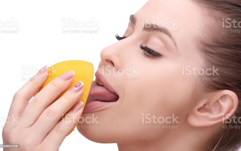 getting my vitamin C stock photo