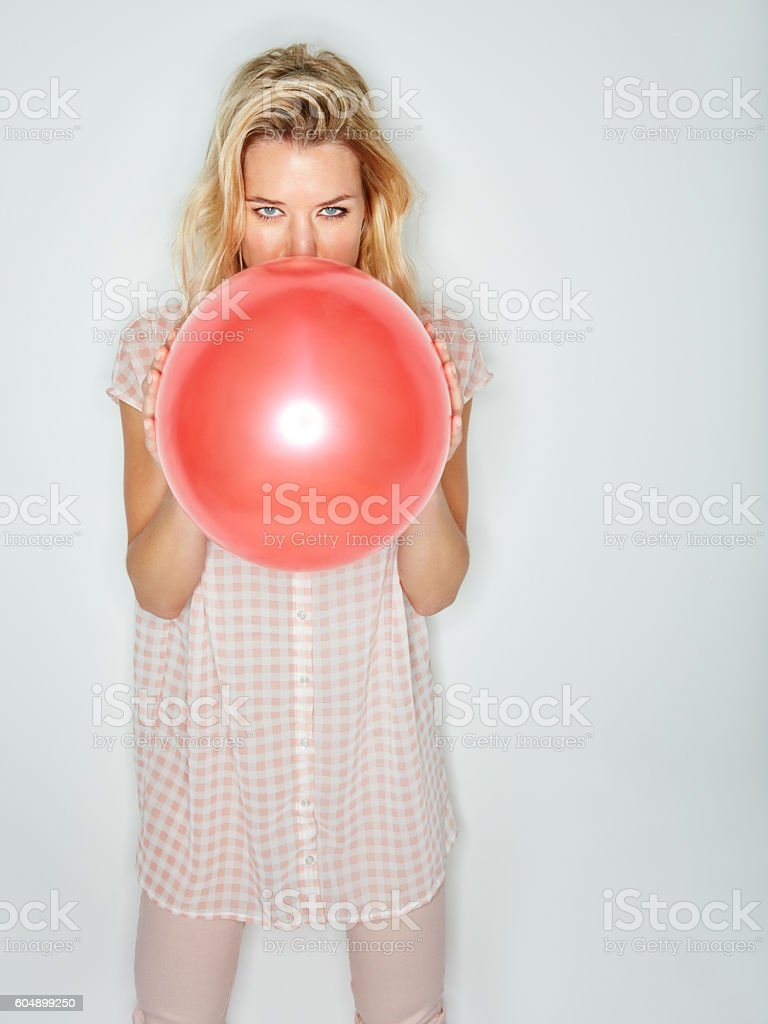 Getting myself some laughing gas stock photo