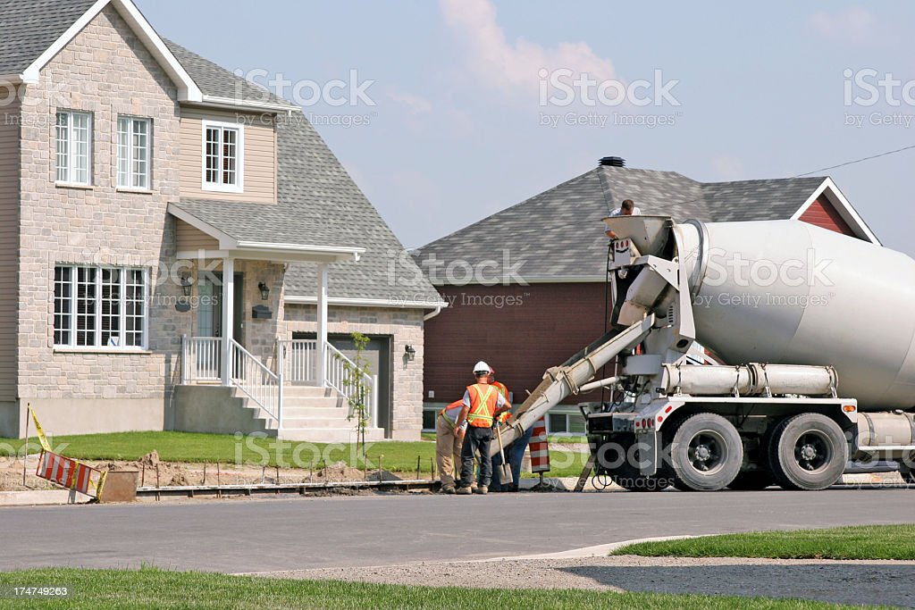 Getting new sidewalk royalty-free stock photo