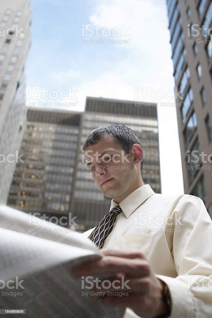 Getting News royalty-free stock photo