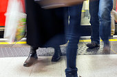 Getting off the tube in London