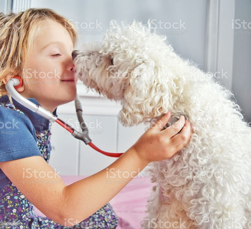 Getting paid in kisses stock photo