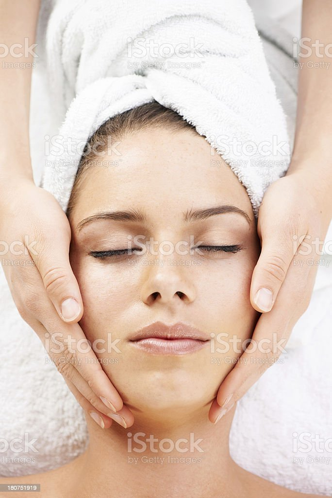 Getting pampered royalty-free stock photo
